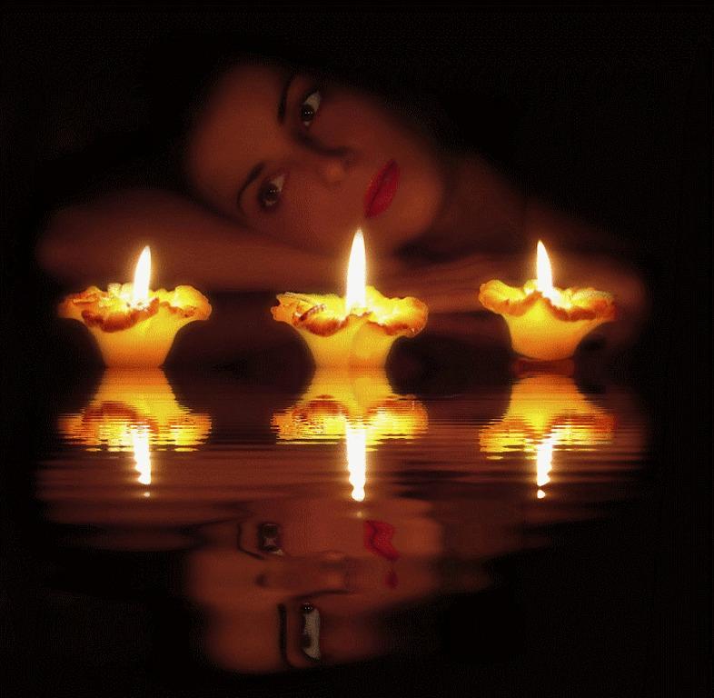 я такая как есть открытка с горящей свечой