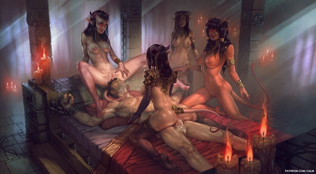 магическая женщина порно