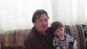 с внуком за столом