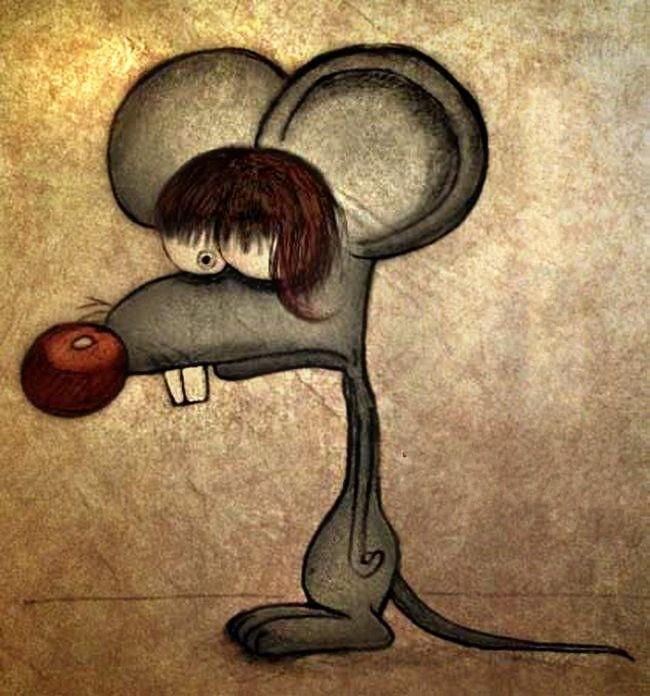 Февраля своими, рисованные прикольные картинки животных с надписями